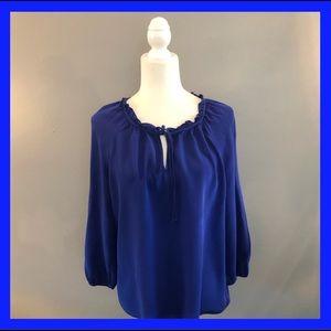 Daniel Rainn long sleeved cobalt blue top. Size L
